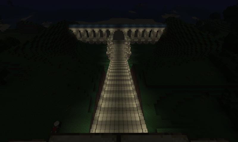 Het aquaduct bij nacht