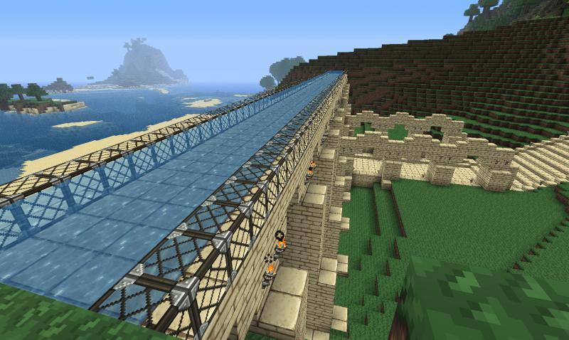 Het water in het aquaduct