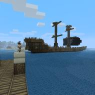 A pirate ship leaving the harbor of Lur's main ...